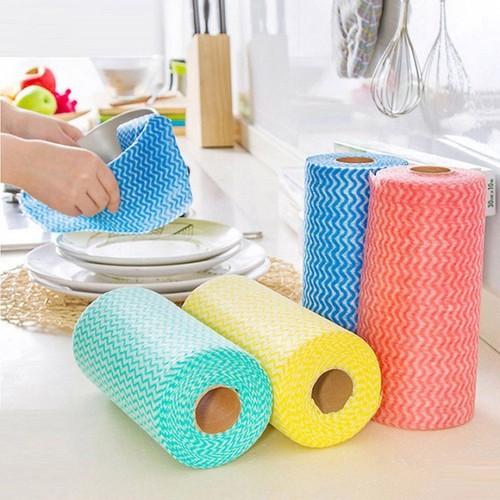 Cuộn khăn lau đa năng 50 miếng