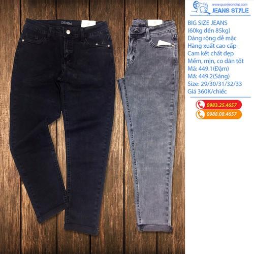 Quần jeans nữ big size dáng rộng