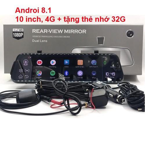Camera hành trình - 10 inch, 4g - androi 8.1