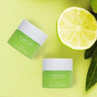 Mặt Nạ Ngủ Môi Dưỡng Ẩm Và Tẩy Tế Bào Chết Hương Chanh Carenel Lip Sleeping Mask Lime - gjsy 3