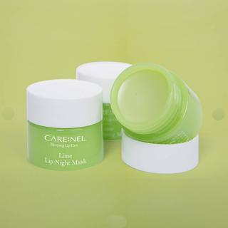 Mặt Nạ Ngủ Môi Dưỡng Ẩm Và Tẩy Tế Bào Chết Hương Chanh Carenel Lip Sleeping Mask Lime - gjsy 4
