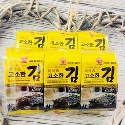 Combo 2 Lốc Rong biển tẩm gia vị ăn liền Ottogi Hàn quốc - Lốc 3 gói