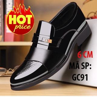 Giày lười tăng chiều cao nam-gc91-da bóng - GC91A thumbnail
