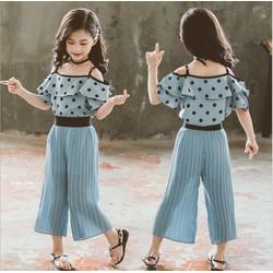 B80334 - Set áo và quần hè bé gái hàng nhập