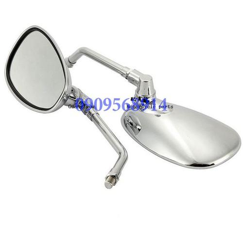 Gương chiếu hậu abs xe máy ovan kính thủy tinh