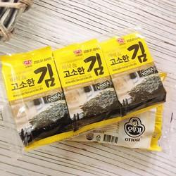 Combo 5 lốc Rong biển tẩm gia vị ăn liền Ottogi Hàn quốc - Lốc 3 gói