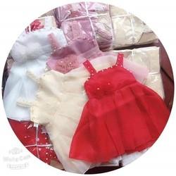 váy công chúa 2 dây đính ngọc 3 tầng cực sang chảnh cho bé