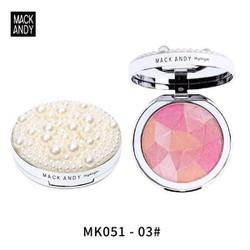 phấn má hồng high ligh có nhũ sáng hộp ngọc trai của Mack andy
