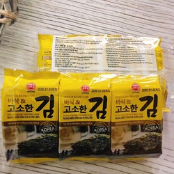 Rong biển tẩm gia vị ăn liền Ottogi Hàn quốc - Lốc 3 gói