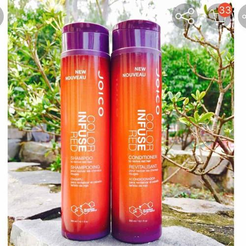Cặp gội xả joico color infuse red bổ sung sắc tố đỏ cho tóc 300mlx2