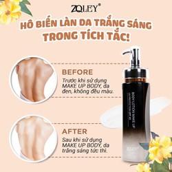 Kem Trang Điểm Toàn Thân 150ml Zo.ley- Body lotion make up SPF 45 - Mẫu Mới 2019
