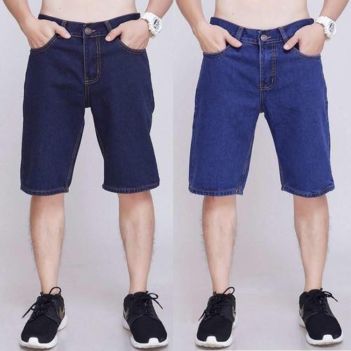 Quần shorts jean nam trơn hàng công ty cao cấp được xem hàng