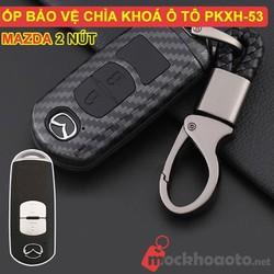 Ốp bảo vệ chìa khóa xe Mazda 2 nút carbon
