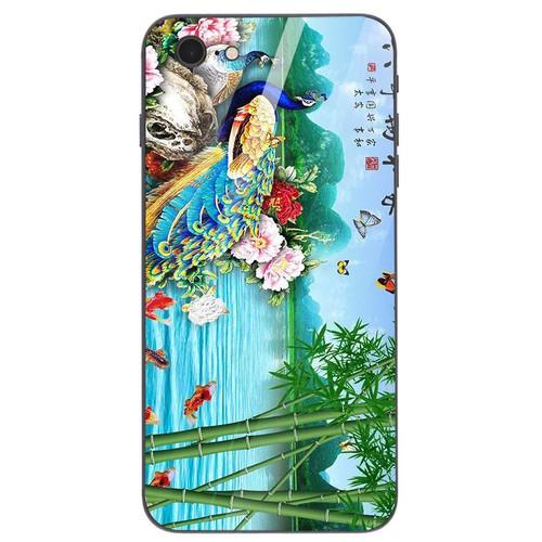 Ốp kính cường lực cho điện thoại iPhone 6  -  6S - chim công phượng MS CPHUONG047