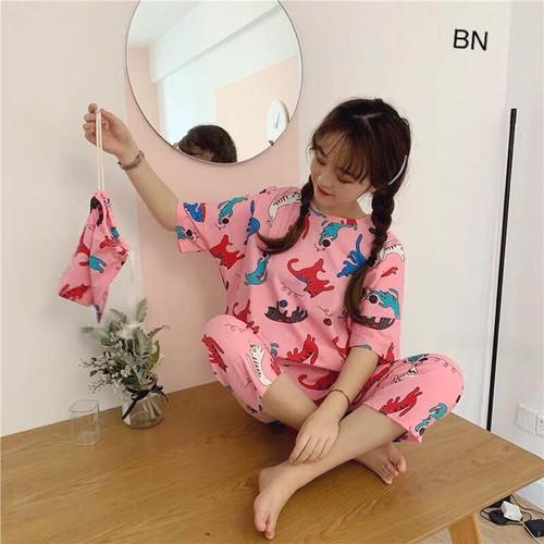 Set đồ bộ mặc nhà nữ dễ thương bằng vải thun đẹp giá rẻ lửng hoạt hình kèm túi đựng  bn 77236 - 12499398 , 20296425 , 15_20296425 , 204000 , Set-do-bo-mac-nha-nu-de-thuong-bang-vai-thun-dep-gia-re-lung-hoat-hinh-kem-tui-dung-bn-77236-15_20296425 , sendo.vn , Set đồ bộ mặc nhà nữ dễ thương bằng vải thun đẹp giá rẻ lửng hoạt hình kèm túi đựng  bn