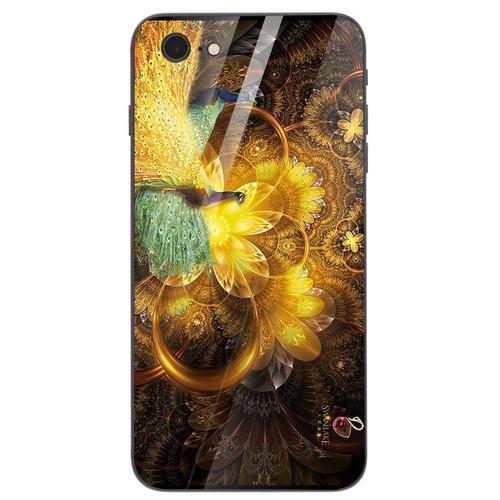 Ốp điện thoại kính cường lực cho máy iPhone 6 Plus - 6s Plus - chim công phượng MS CPHUONG037