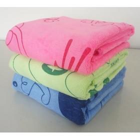 Khăn tắm dày đẹp in hình thú ngộ nghĩnh - Bộ 3 khăn KT 50x100cm - Bộ 3 khăn tắm 50x100cm