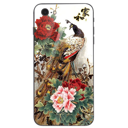 Ốp điện thoại kính cường lực cho máy iPhone 6  -  6S - chim công phượng MS CPHUONG045