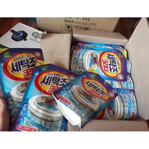 Tặng quà Bột tẩy lồng máy giặt Bột tẩy vệ sinh lồng máy giặt 450g công nghệ Hàn Quốc Hàng đẹp