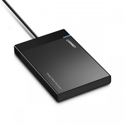 Vỏ Hộp đựng ổ cứng 2,5 inch USB 3.0 vỏ nhựa ABS cao cấp dây liền UGREEN US221 30847 - Hàng Chính Hãng