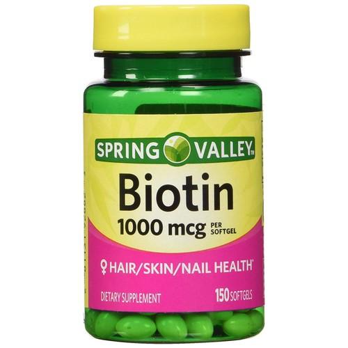 Viên uống biotin spring valley 1000mcg