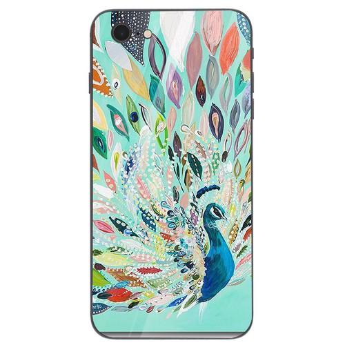 Ốp kính cường lực cho điện thoại iPhone 6 Plus - 6s Plus - chim công phượng MS CPHUONG041