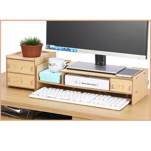 Kệ màn hình gỗ lắp ghép 2 tầng có ngăn tủ phụ - kệ gỗ để màn hình - 12490175 , 20283164 , 15_20283164 , 450000 , Ke-man-hinh-go-lap-ghep-2-tang-co-ngan-tu-phu-ke-go-de-man-hinh-15_20283164 , sendo.vn , Kệ màn hình gỗ lắp ghép 2 tầng có ngăn tủ phụ - kệ gỗ để màn hình