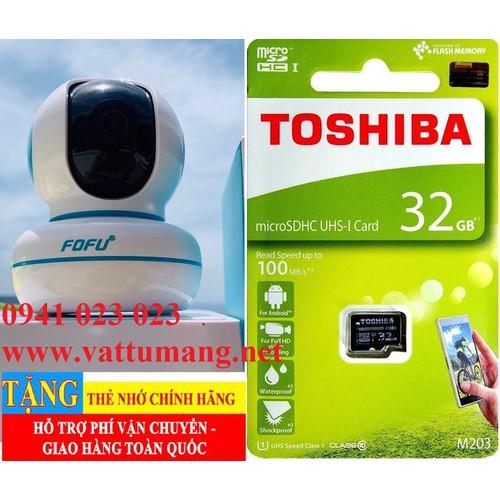 Camera wifi 2.0mp full hd + thẻ nhớ 32gb chất lượng cao. bh 24 tháng 1 đổi 1
