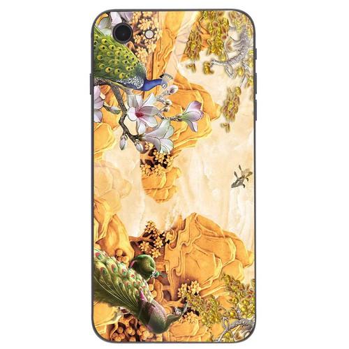 Ốp kính cường lực cho điện thoại iPhone 6  -  6S - chim công phượng MS CPHUONG039