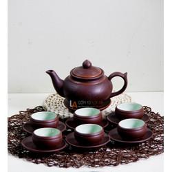 ĐÁNH THỨC TRÀ VỚI Bộ Ấm Chén Tử Sa Chóp Khắc Hoa Phù Dung, ấm pha trà, ấm tách trà, am tra, am uong tra, ấm trà đạo, ấm trà độc ẩm, ấm trà có lọc, ấm trà giữ nhiệt, ấm pha trà xanh, ấm pha trà hoa, ấm pha trà ngon, chọn ấm pha trà