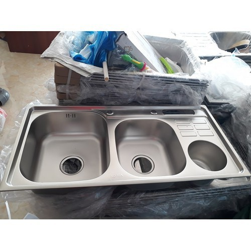 Chậu rửa bát 2 hố lệch korea có cài dao, hố rác - 12503591 , 20302012 , 15_20302012 , 920000 , Chau-rua-bat-2-ho-lech-korea-co-cai-dao-ho-rac-15_20302012 , sendo.vn , Chậu rửa bát 2 hố lệch korea có cài dao, hố rác