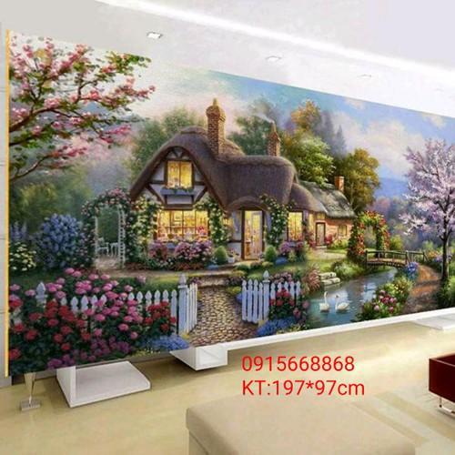 Tranh thêu chữ thập ngôi nhà hạnh phúc - 12504135 , 20302600 , 15_20302600 , 410000 , Tranh-theu-chu-thap-ngoi-nha-hanh-phuc-15_20302600 , sendo.vn , Tranh thêu chữ thập ngôi nhà hạnh phúc