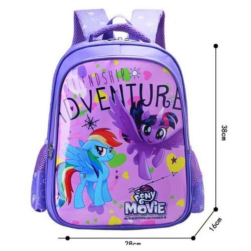 Cặp ba lô cho học sinh tiểu học lớp 1-5 hình pony tím