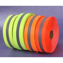 Giảm giá 1 cuộn dây phản quang vải sọc xám bản 2,5cm và 5cm-dài 100m- HÀNG SẴN