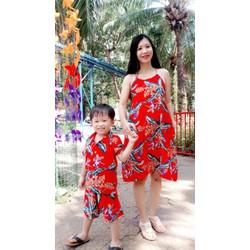 [SIÊU SALE]Đầm suông cổ yếm Vải đũi tơ 40-65kg Thiết kếcao cấp