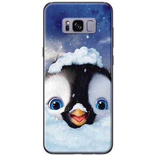 Ốp lưng nhựa dẻo samsung s8 plus chim cánh cụt