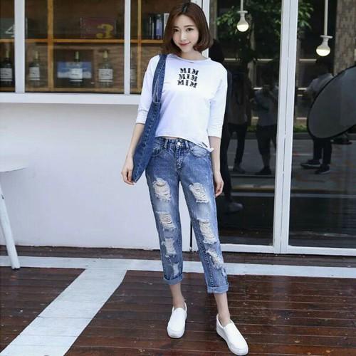 Quần baggy jean nữ phong cách - 12506282 , 20305310 , 15_20305310 , 125000 , Quan-baggy-jean-nu-phong-cach-15_20305310 , sendo.vn , Quần baggy jean nữ phong cách