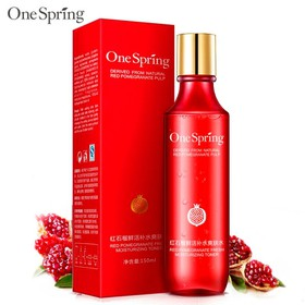 [CHÍNH HÃNG] Nước hoa hồng ONE SPRING dưỡng ẩm se khít lỗ chân lông nước cân bằng da toner chiết xuất lựu đỏ KR-TN01 - KR-TN01
