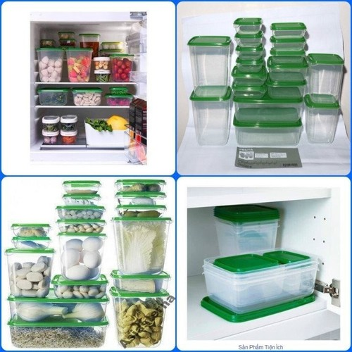 Bộ 17 hộp nhựa đựng thực phẩm cao cấp ikea