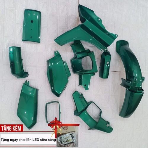 Dàn áo xe honda-dream nhựa abs nguyên sinh cao cấp màu xanh heineken, tặng kèm bộ tem và chiếc pha đèn bóng led siêu sáng theo xe - 12496194 , 20291555 , 15_20291555 , 1500000 , Dan-ao-xe-honda-dream-nhua-abs-nguyen-sinh-cao-cap-mau-xanh-heineken-tang-kem-bo-tem-va-chiec-pha-den-bong-led-sieu-sang-theo-xe-15_20291555 , sendo.vn , Dàn áo xe honda-dream nhựa abs nguyên sinh cao cấp