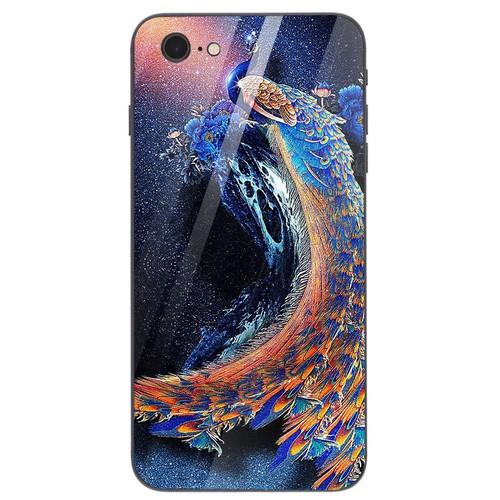 Ốp điện thoại kính cường lực cho máy iPhone 6 Plus - 6s Plus - chim công phượng MS CPHUONG038