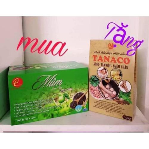 Mầm đậu nành hạt chia Tanaco - Tặng 1 hộp muối thảo dược thiên nhiên