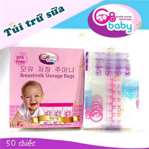 Tặng quà HỘP 50 TÚI TRỮ SỮA GB BABY MẪU MỚI GIA DỤNG ĐẠI PHONG giá siêu rẻ