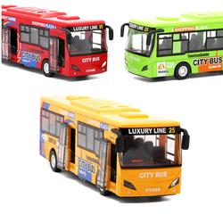 Ô tô buýt City Bus xe đồ chơi trẻ em có đèn và âm thanh xe bằng kim loại chạy cót