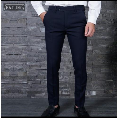 {Hàng cao cấp} quần tây âu cao cấp fatuno vải 79 phong cách hàn quốc màu xanh đen