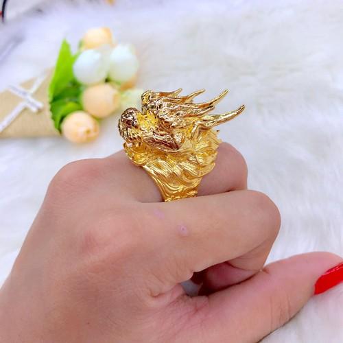 Nhẫn nam đầu rồng dát vàng 24k - 12511103 , 20312492 , 15_20312492 , 299000 , Nhan-nam-dau-rong-dat-vang-24k-15_20312492 , sendo.vn , Nhẫn nam đầu rồng dát vàng 24k