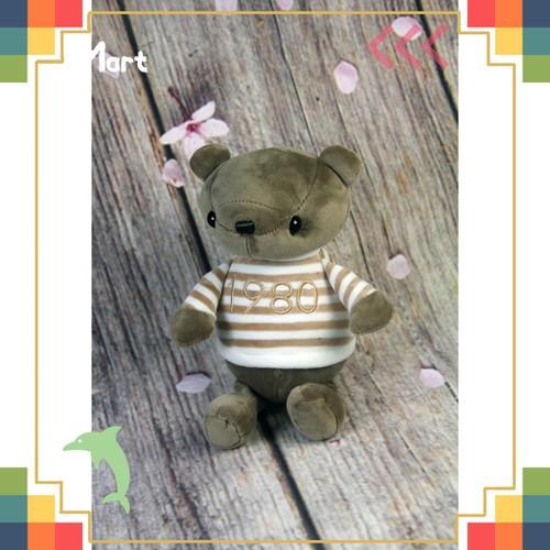 Quà Bé Yêu Đồ Chơi Gấu Bông 23cm Oenp es Áo Kẻ 1980 Đáng Yêu DAN2869 For Kids
