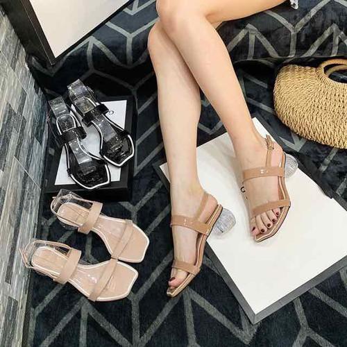 Giày sandal cao gót 3 phân đế trụ tròn - 12509977 , 20311155 , 15_20311155 , 215000 , Giay-sandal-cao-got-3-phan-de-tru-tron-15_20311155 , sendo.vn , Giày sandal cao gót 3 phân đế trụ tròn