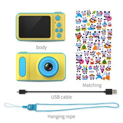 Máy ảnh mini kĩ thuật số tích hợp game và sticker cho bé yêu