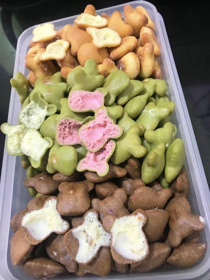 Bánh Gấu Kem Mix 4 Vị VANI , Dâu ,Chùm Ngây , Cà Phê - Siêu Hấp Dẫn - 100G - G4V100